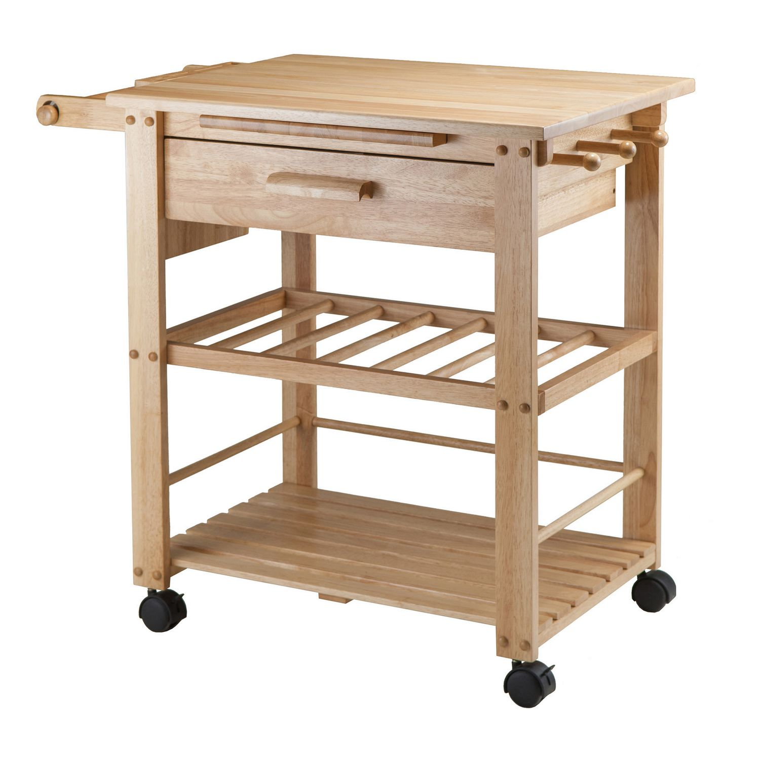 Winsome Finland Kitchen Cart In Natural Finish 83644