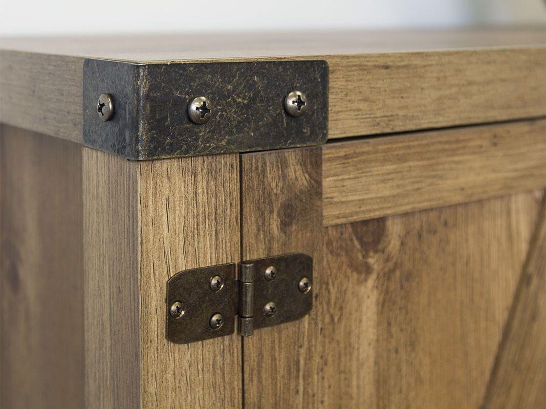 Meuble Tv Console Table Porte De Grange En Bois De 132 Cm 52  # Portes Televiseurs En Bois