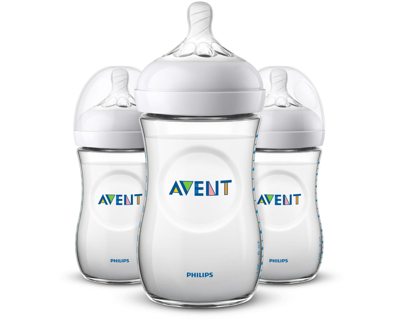 PHILIPS Avent 3 Pack 9oz Natural BPA free Baby Bottles SCF013//37