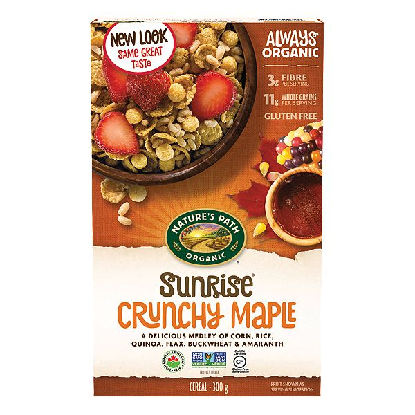 Nature's Path Gluten Free Crunchy Maple Sunrise Organic
