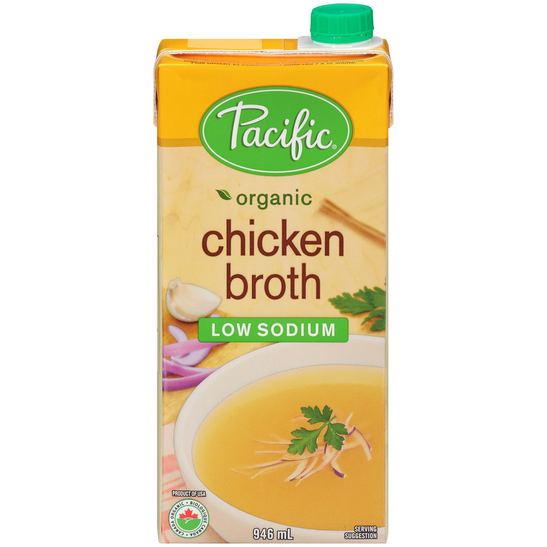 Pacific Foods Chicken Broth Low Sodium Walmart Canada Bragg Apple Cider Vinegar 946 Ml