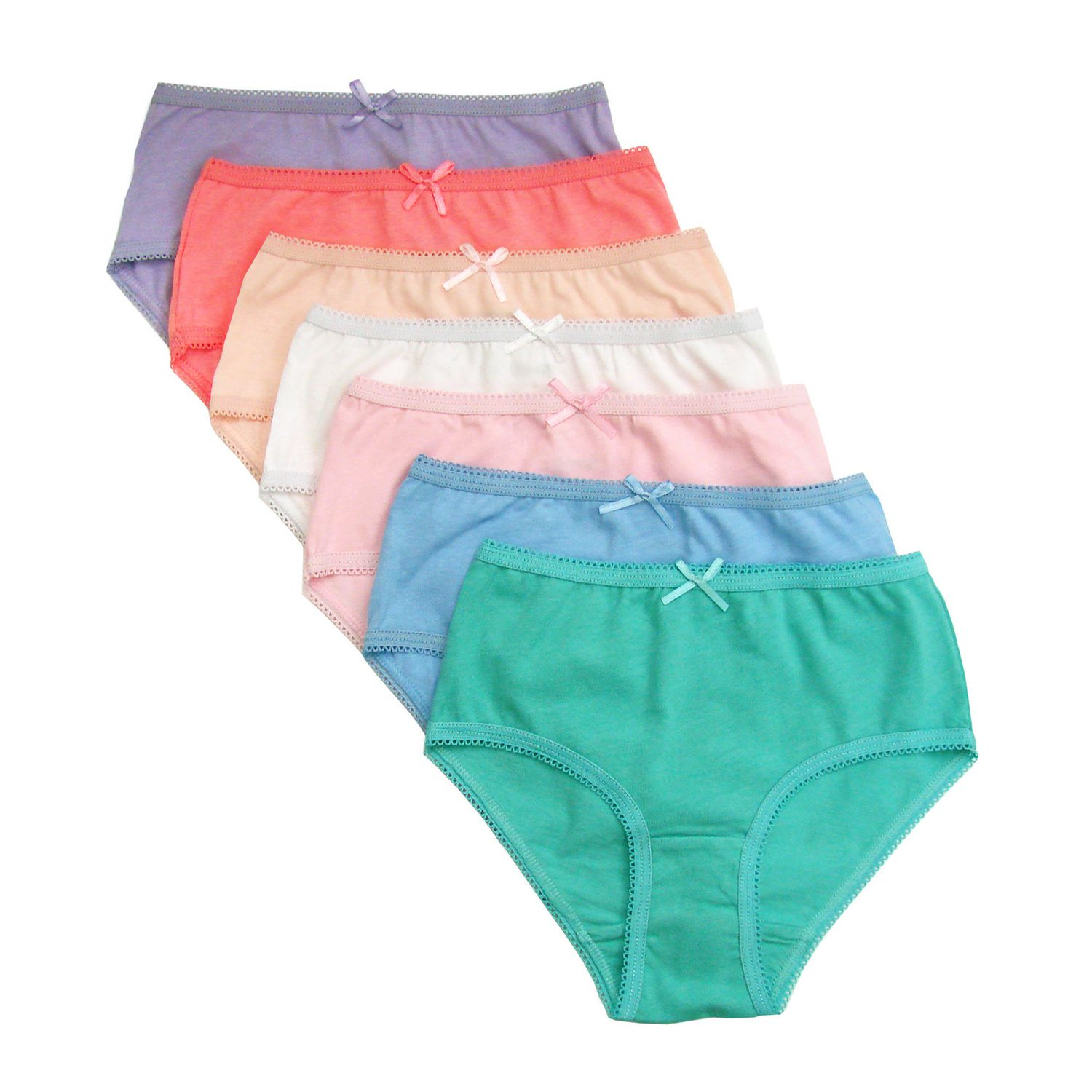 Pack of 7. Age 2 to 3 Go-Gifts Kids Cotton Briefs girls Briefs
