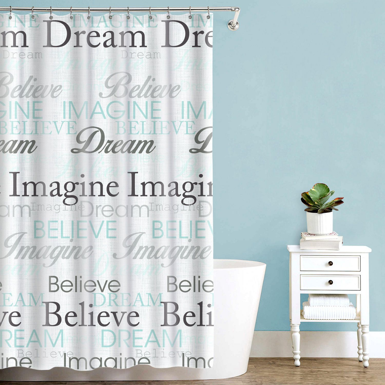 Splash Home Dream Polyester Fabric Shower Curtain 70 X 72