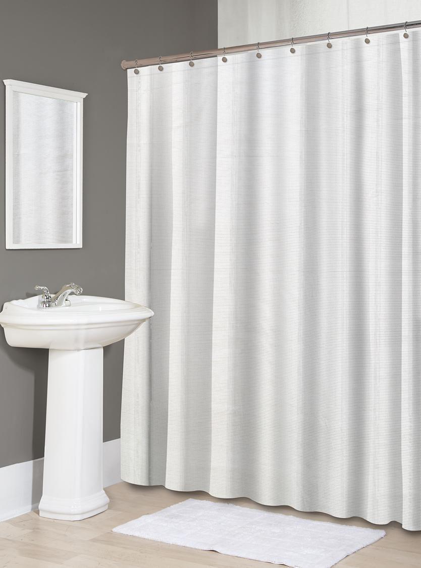 Picture of: Splash Home Diamond Polyester Fabric Shower Curtain 70 X 72 White Walmart Canada
