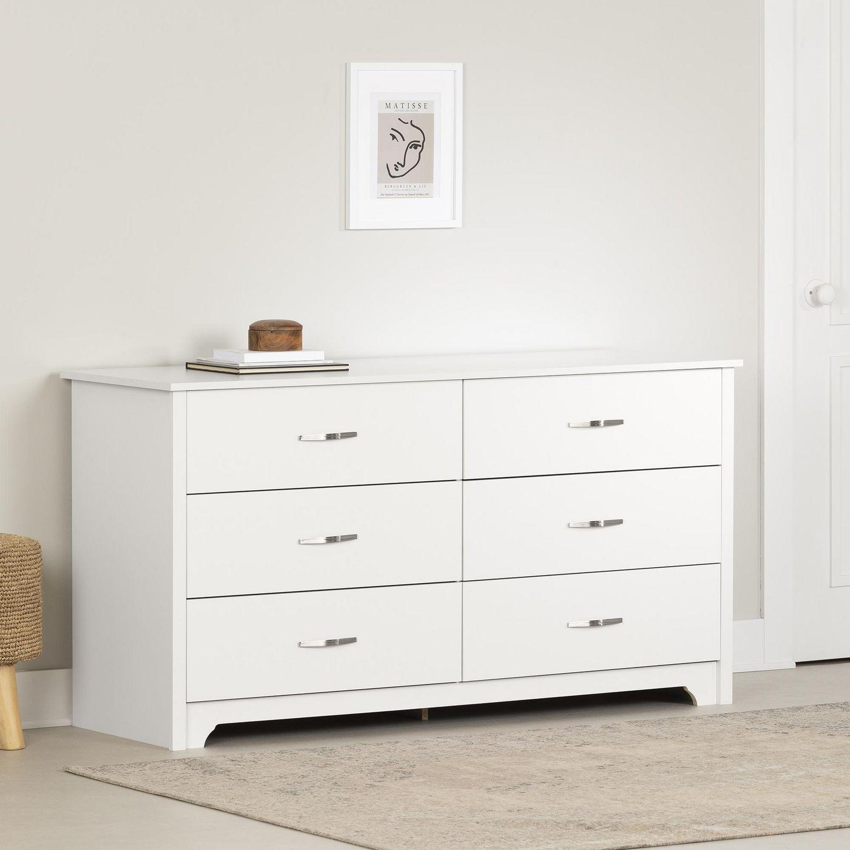 south shore fusion drawer double dresser white  walmartca -