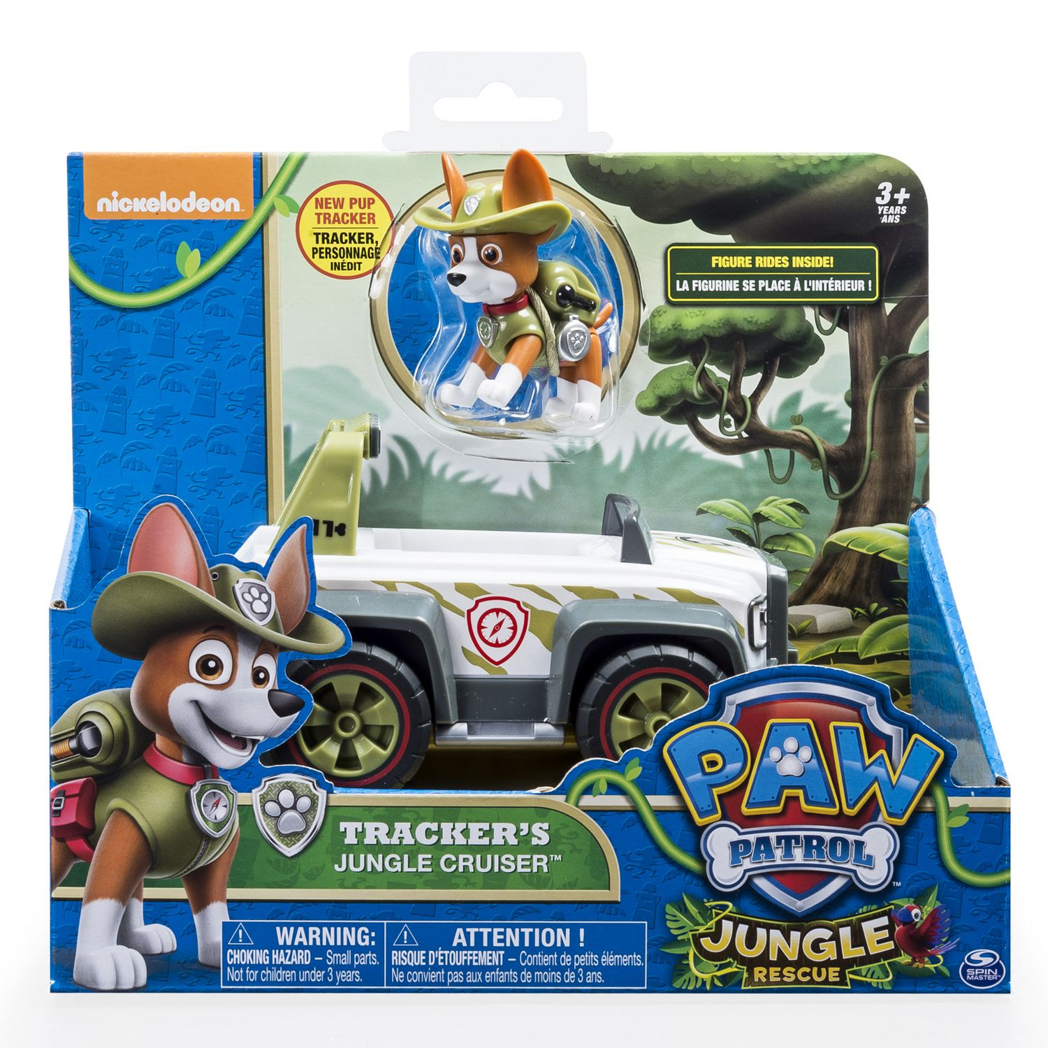 top toys walmart paw patrol jungle rescue trackeracirc s jungle cruiser toy vehicle and action figure