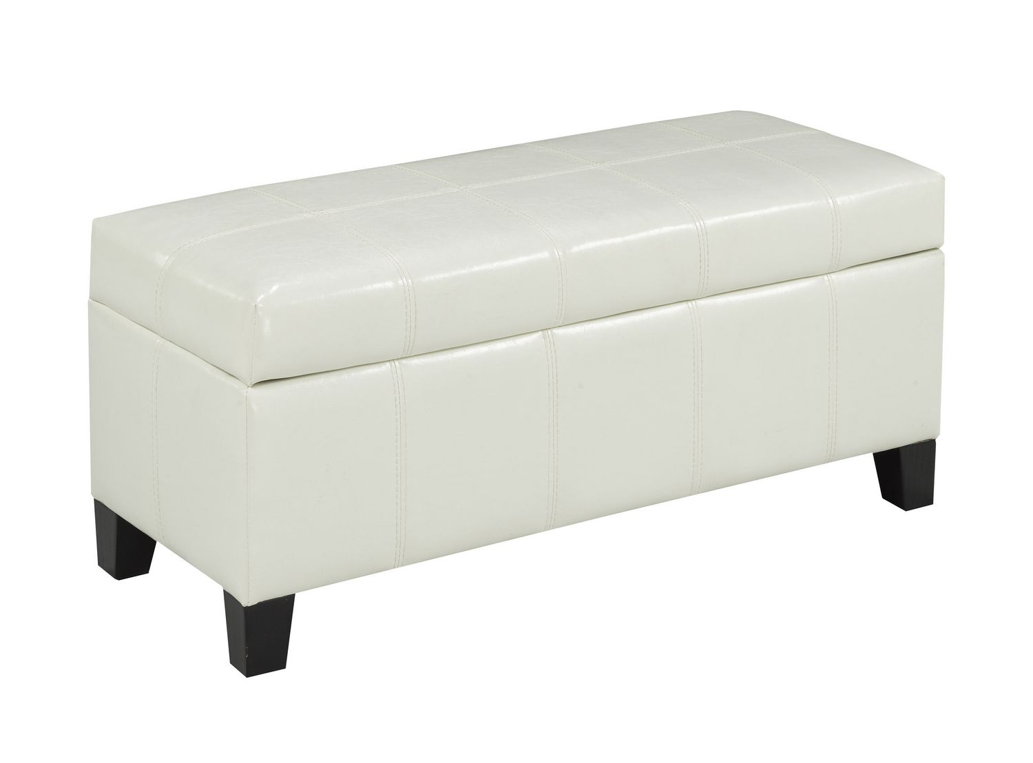 brassex ottoman with storage white  walmartca -