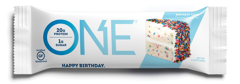Sensational One Protein Bar Birthday Cake Walmart Canada Funny Birthday Cards Online Chimdamsfinfo