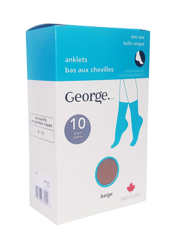 1 Pair George Girls Pantyhose Size 4-6 Black 7-10  White