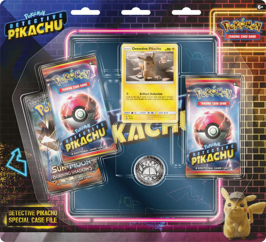 Pokemon Detective Pikachu Special Case File TCG: 3 Booster Pack + Movie  Binder