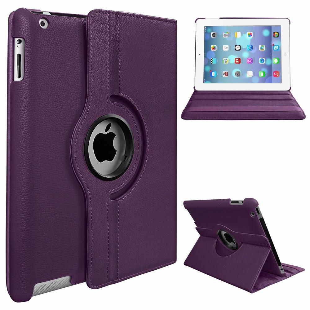 ipad cases, sleeves \u0026 bags walmart canadaexian ipad 2 ipad 3 pu leather rotatable flip case with stand purple