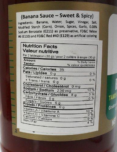 Ufc Sweet Spicy Banana Sauce Walmart Canada