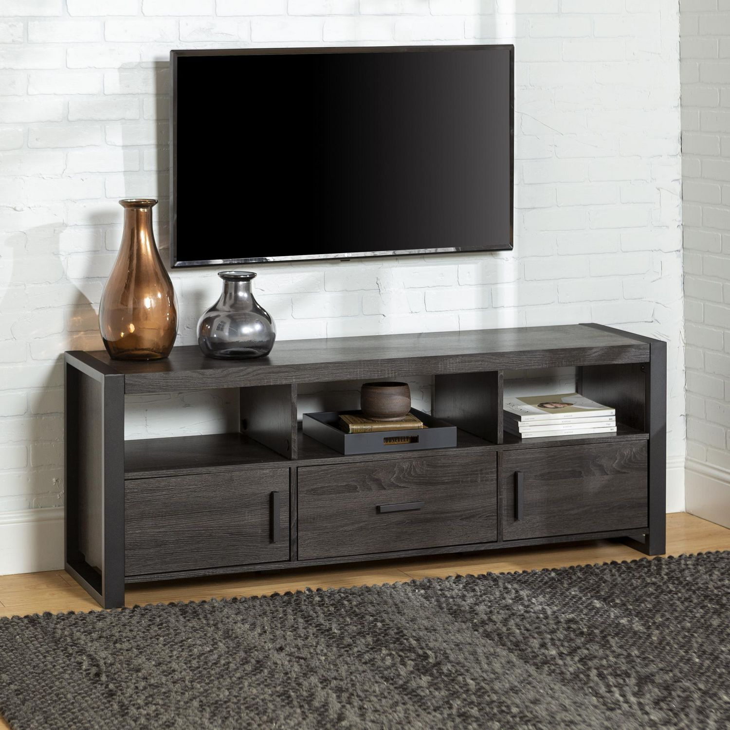Manor Park Industrial Tv Stand With Storage For Tv S Up To 66