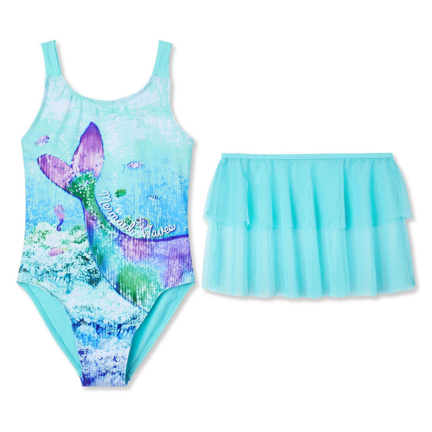 38473450c9feb George Girls' Mermaid Swim Set - image 1 of 2 zoomed image