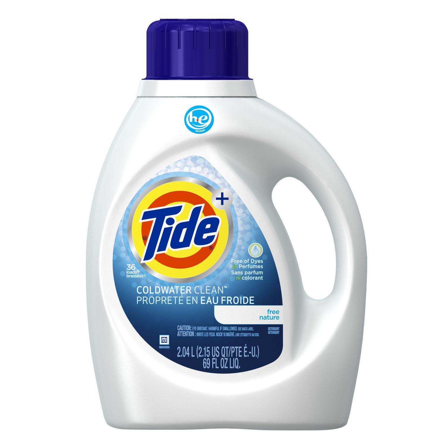 High Efficiency Detergent Brands Tide High Efficiency Coldwater Free Liquid Laundry Detergent 204l