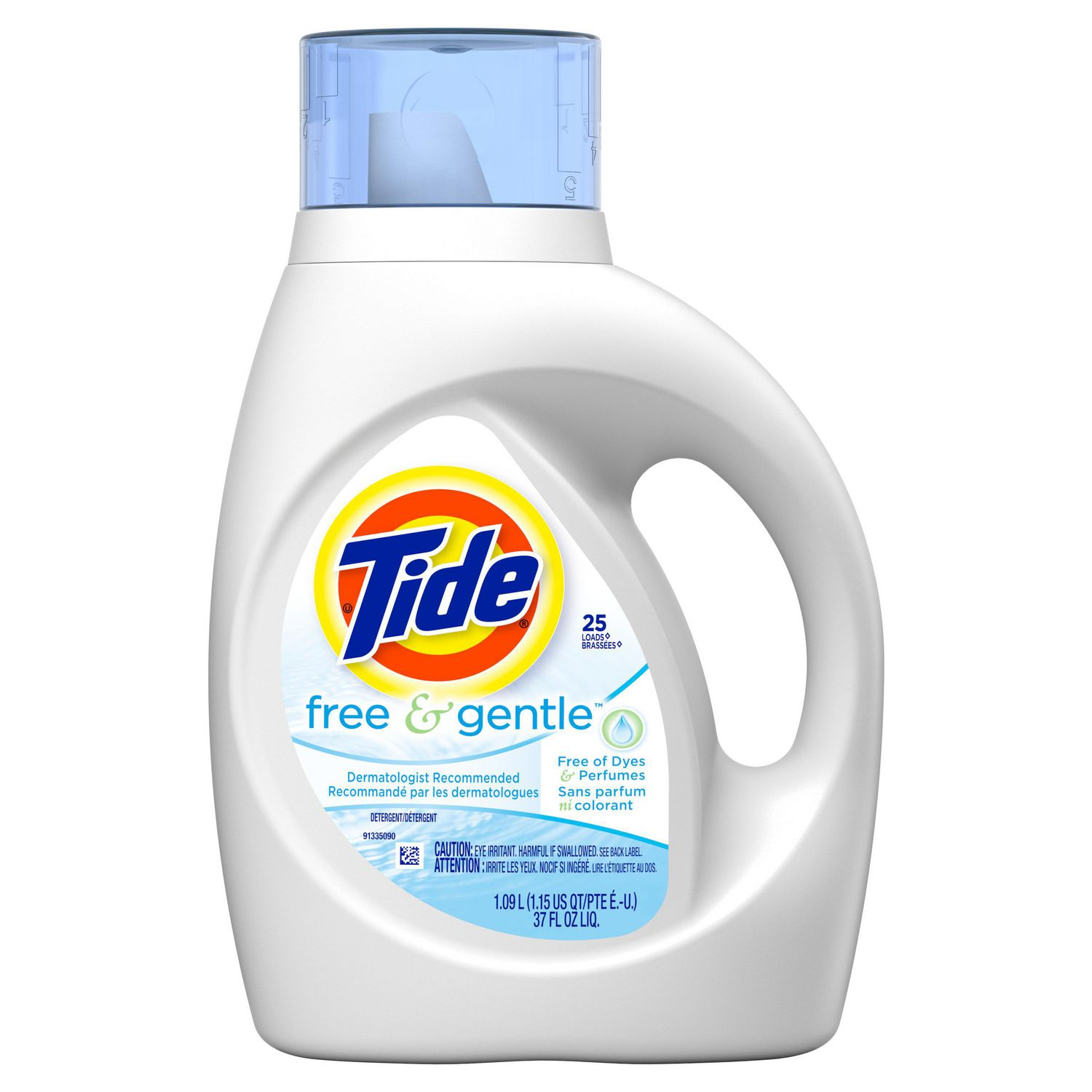 How Much He Detergent To Use Tide High Efficiency Free Liquid Laundry Detergent 109l 24 Loads