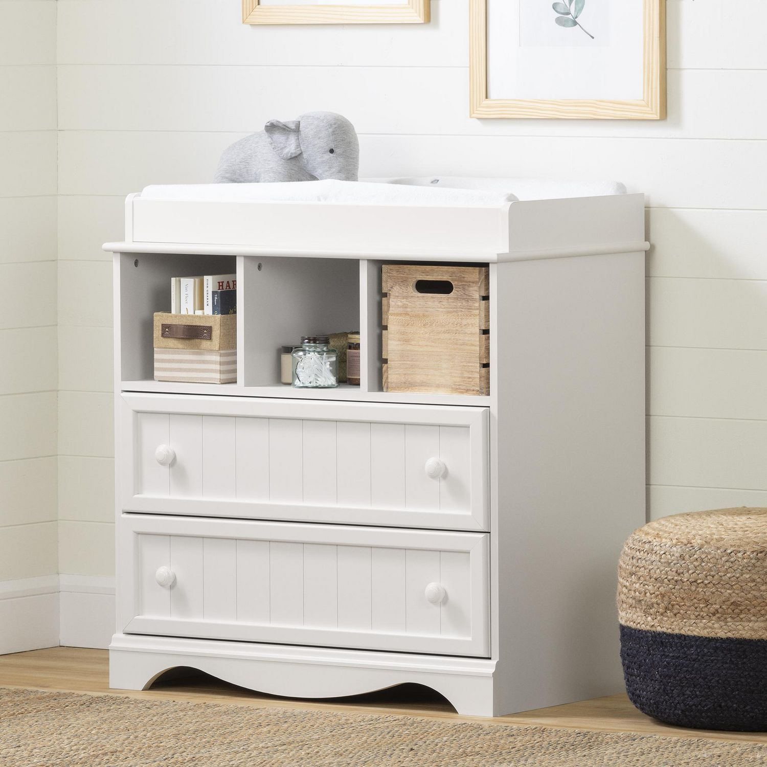 room wooden kids white dresser of pleasing your and brown on above flooring baby nur for grey changing base nursery pad table short topper having ideas laminate drawer