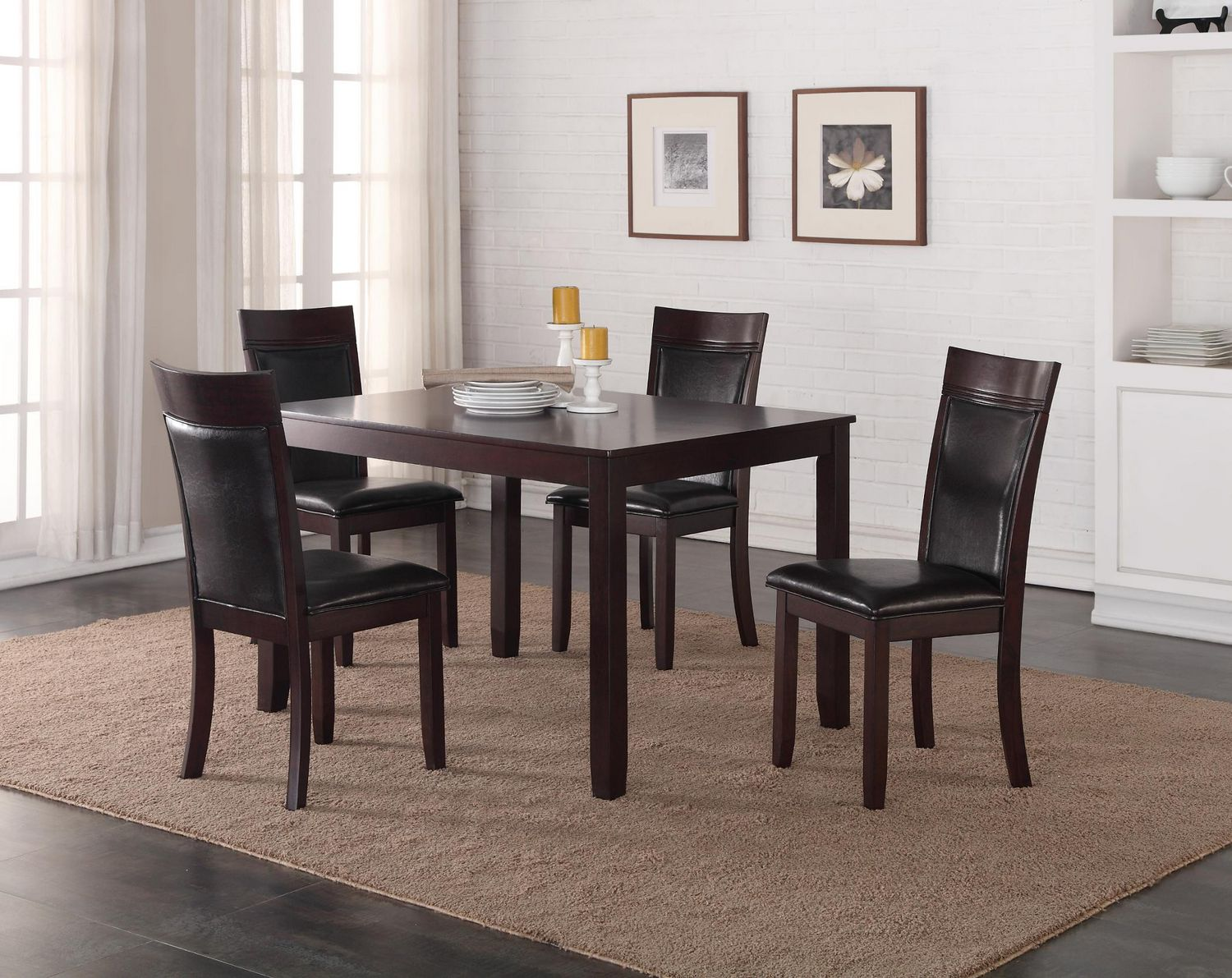 K Living Jenny Solid Wood Dining Table in Espresso