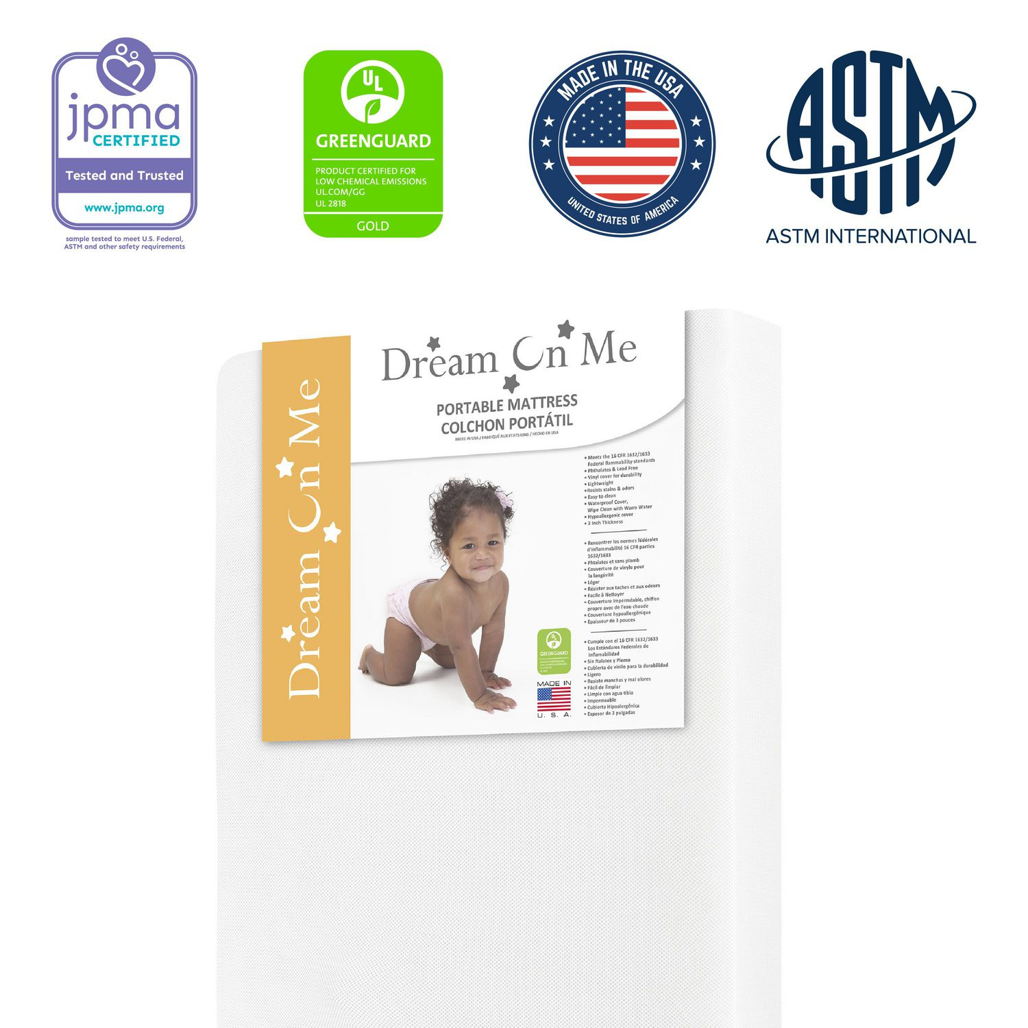 Dream On Me 2 In 1 Breathable Two Sided 3 Mini Portable Crib Mattress Walmart Canada
