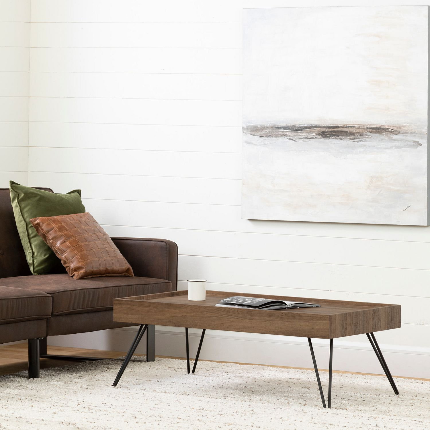 Rc Willey Salt Lake: South Shore Slendel Coffee Table With Hairpin Legs