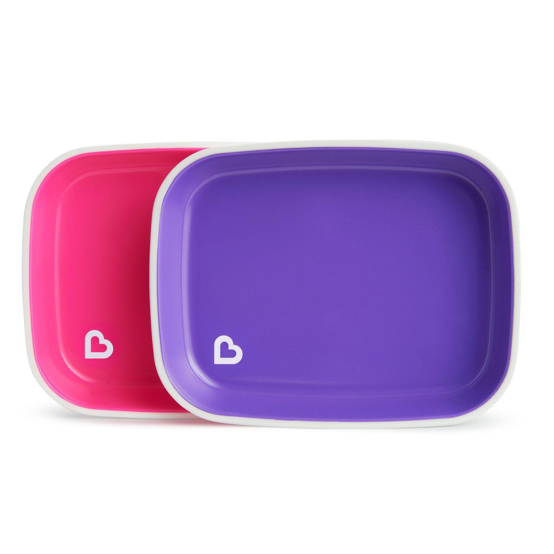 pink pink pink 3 Pack Munchkin Splash No-Slip Toddler Bowls