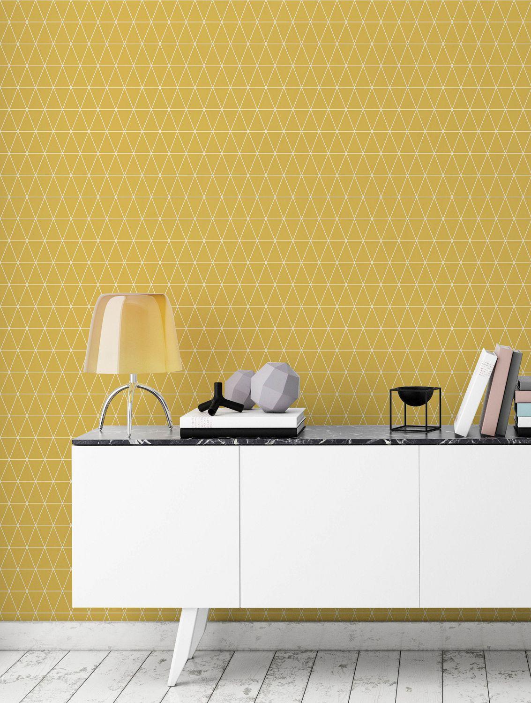 Papier Peint Jaune Moutarde papier peint triangolin de graham & brown en moutard