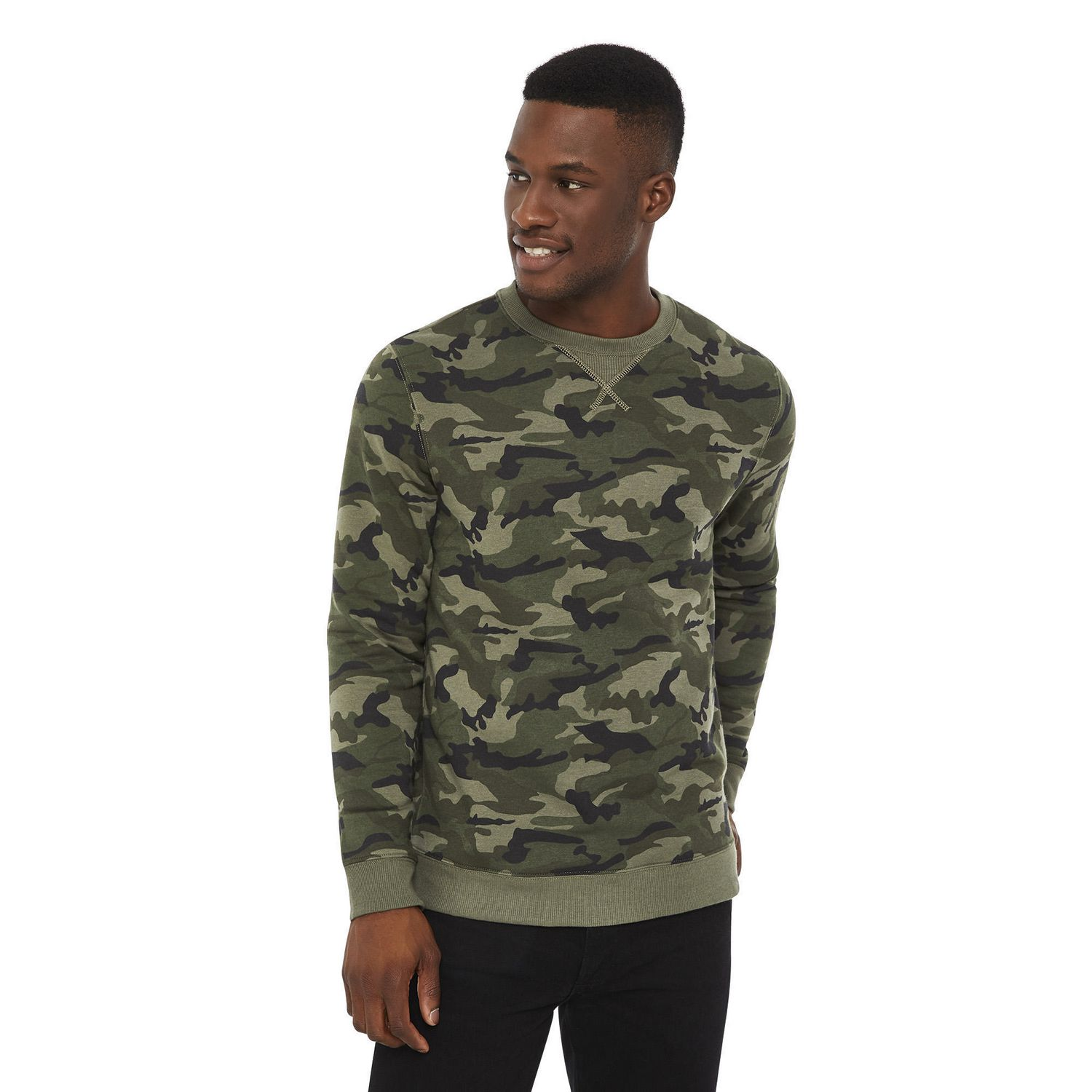 b20427238ade George Men's Wow Camouflage Crew Neck - image 1 of 6 zoomed image