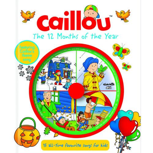 Caillou - The 12 Months Of The Year (CD + Book) | Walmart Canada