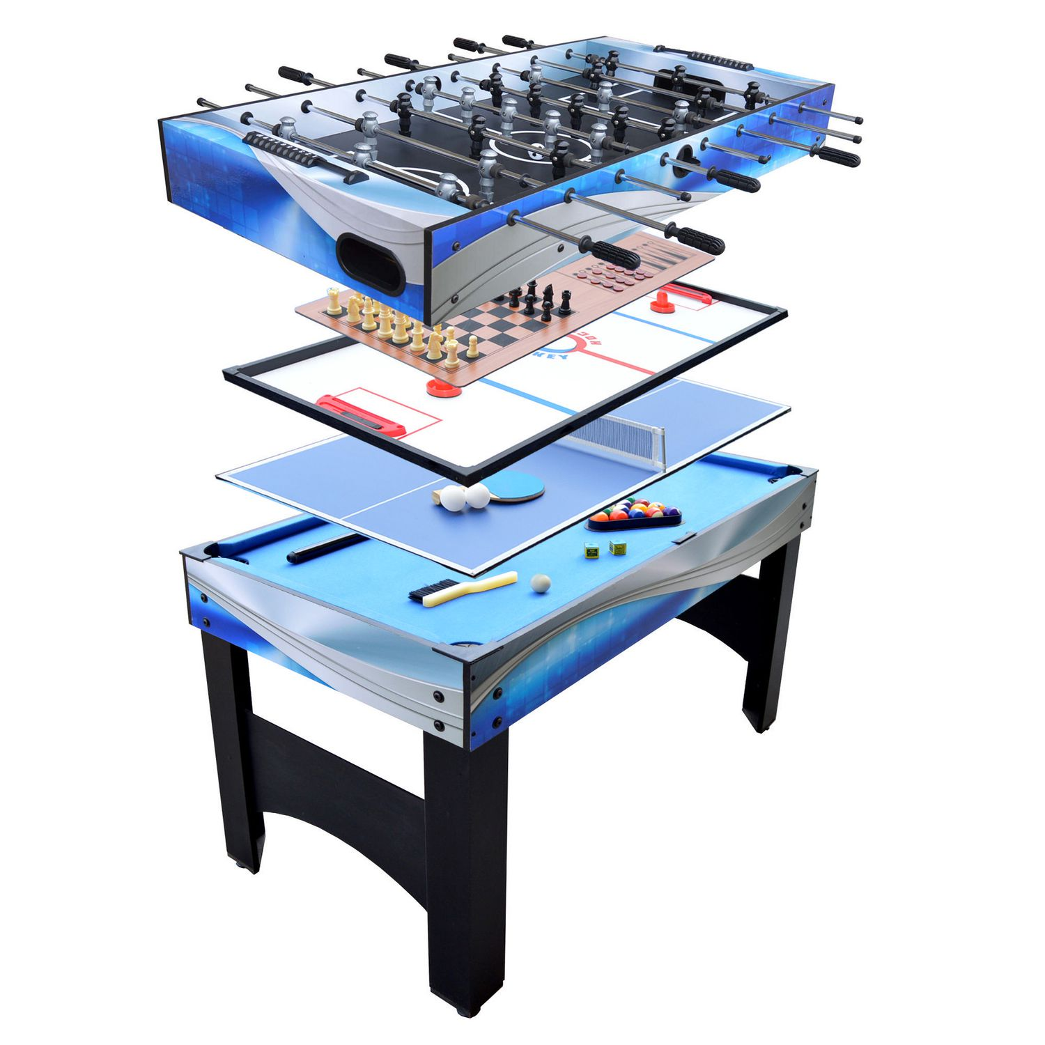 outdoors tables in dp sports multi game combination table swivel triumph amazon com