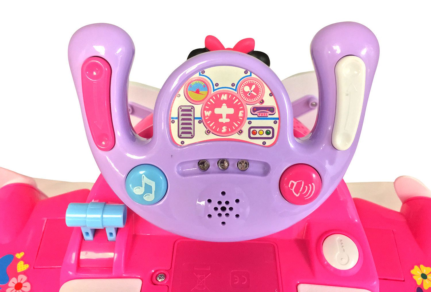 Baby Toddler Ride On Activity Ring 4 In 1 Minnie Plane Musical Push Along
