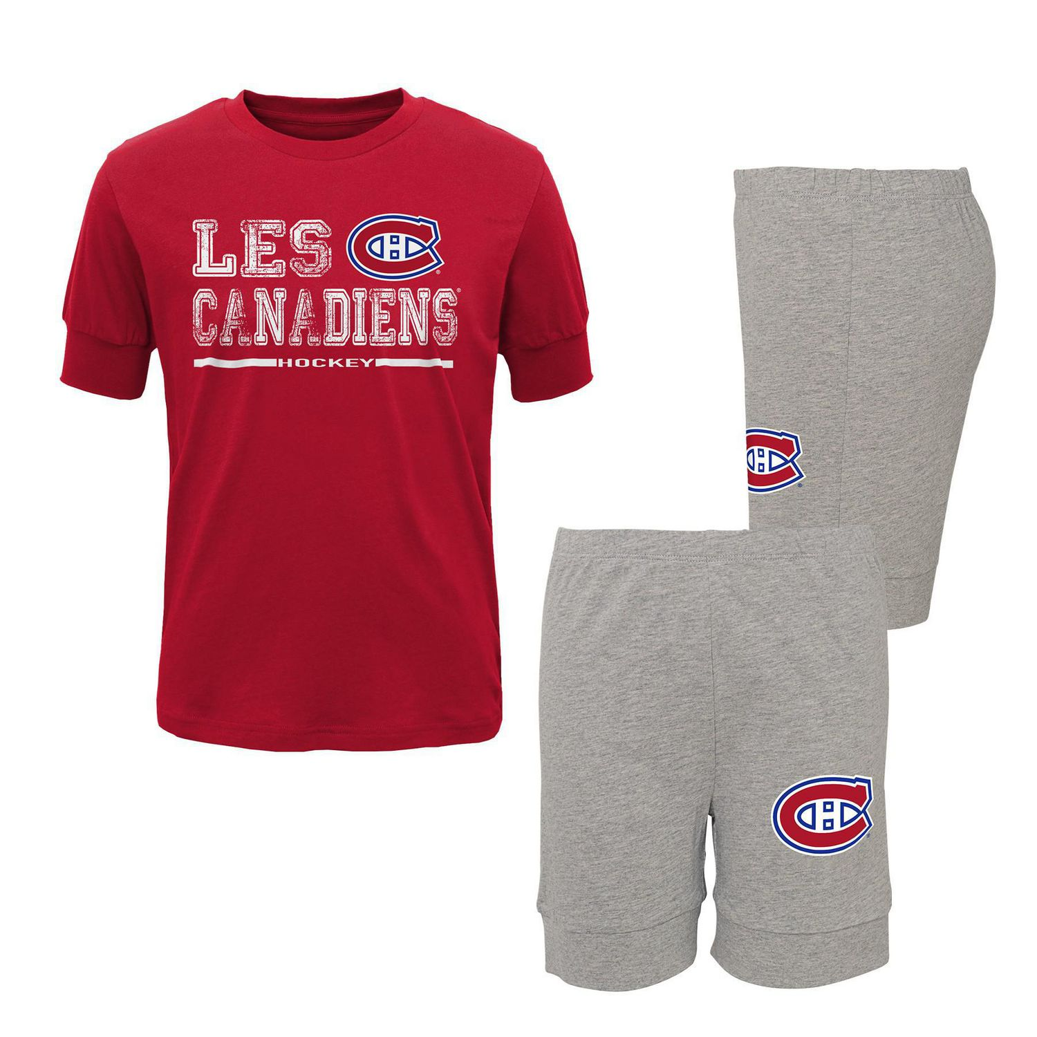 Montreal Canadiens Youth Long Sleeve T-Shirt /& Pants Sleep Set