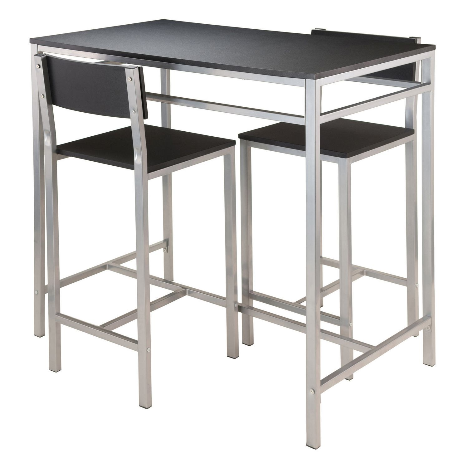 winsome hanley piece high table with  high back stools    - winsome hanley piece high table with  high back stools   walmartca
