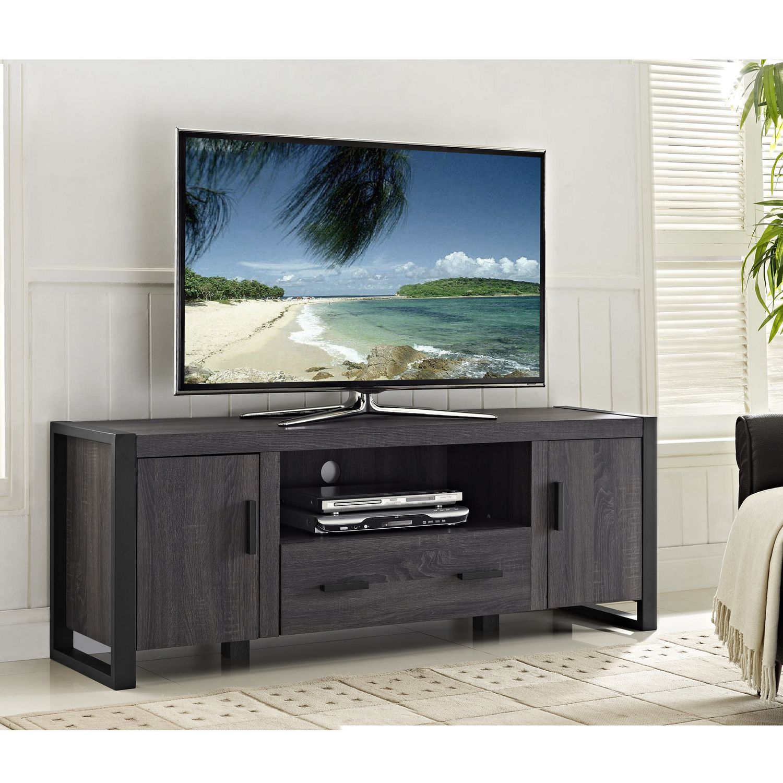 we furniture  grey wood tv stand console  walmartca -