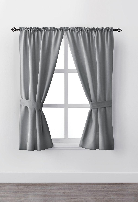 """Curtain Decor Ideas For Living Room: Mainstays Bennett 63"""" Rod Pocket Window Curtain Drapery"""