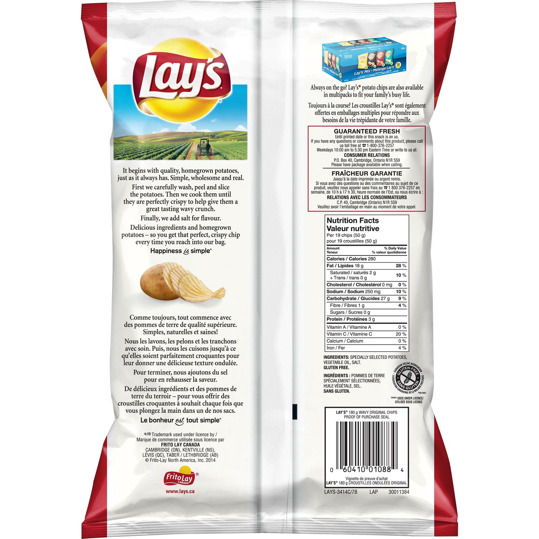 lay's wavy original potato chips | walmart canada