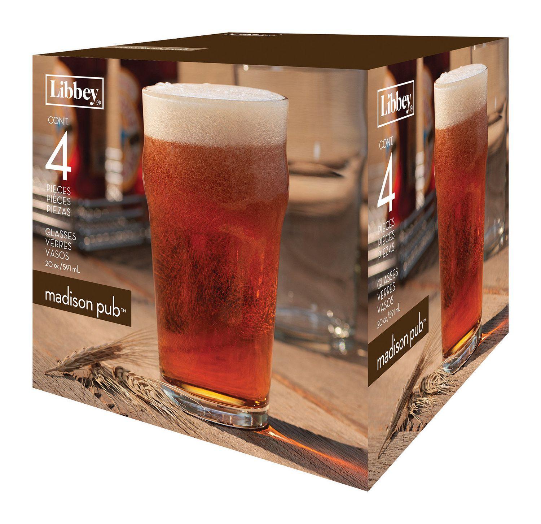 20 oz//592 mL Libbey Madison Pub Glasses Set of 4