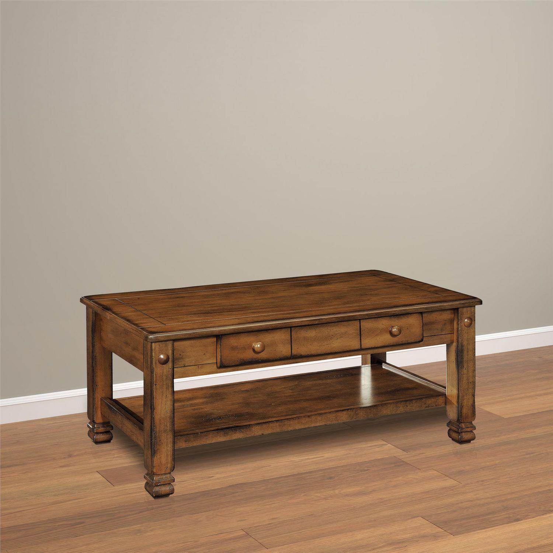 Summit mountain wood veneer coffee table medium brown walmart canada