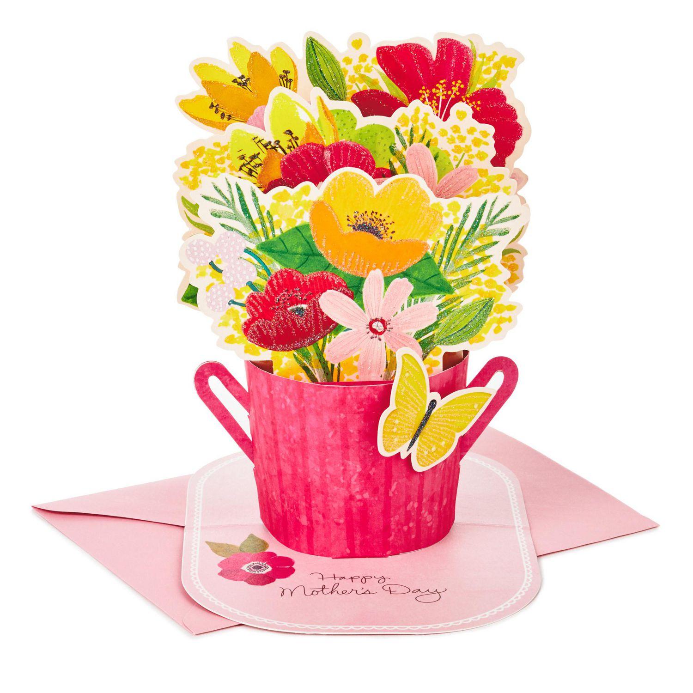 Hallmark Paper Wonder Mothers Day Pop Up Card Flower Bouquet You