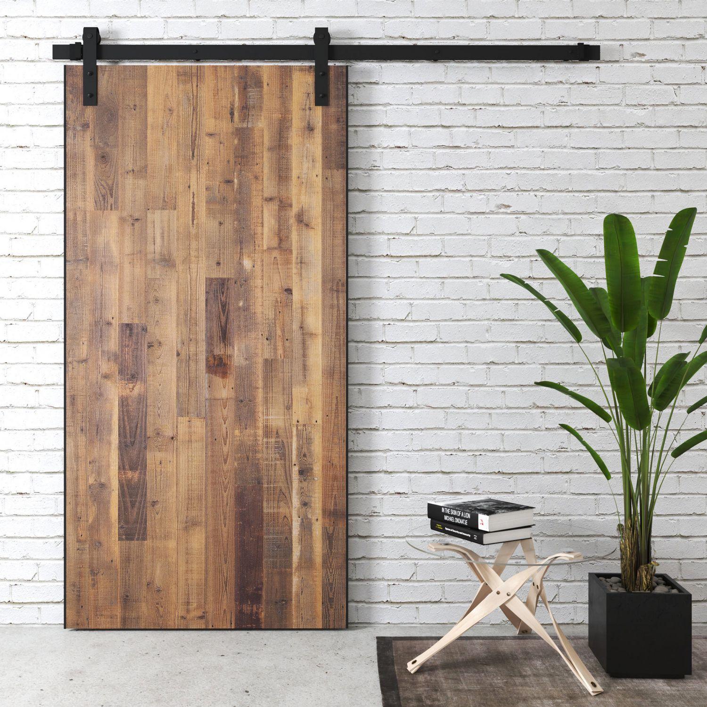 Urban Woodcraft Newport Reclaimed Wood Barn Door Walmart Canada