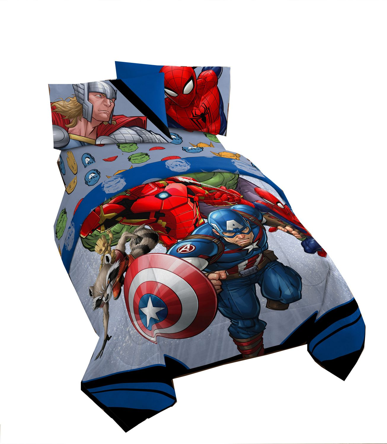 children deluxe pin delta twin avengers comforter from bedtime rescuing plastic bed features this