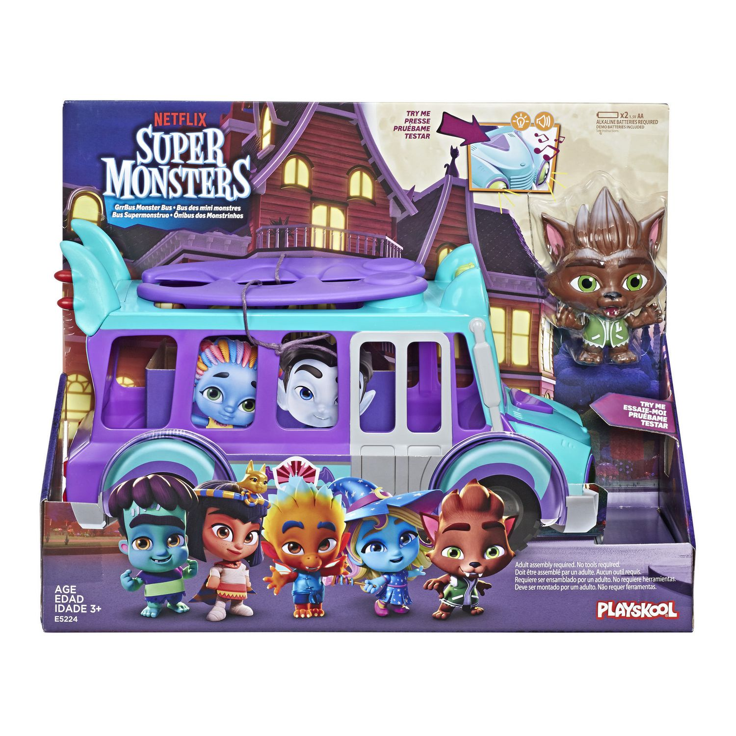 Netflix Super Monsters Grrbus Monster Bus Toy With Lights Sounds And Music Ages 3 And Up