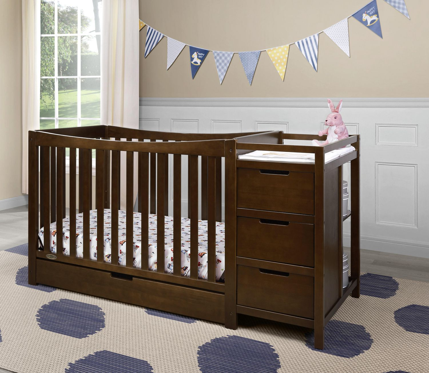 crib combo table relax x baby and emma in photo gray com good n changing changer walmart of