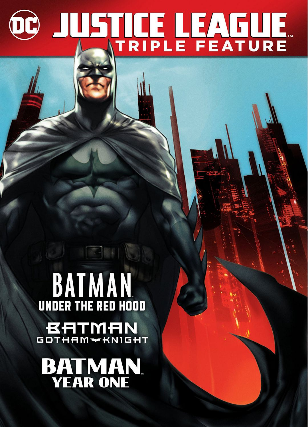 Justice League Triple Feature Batman Under The Red Hood Gotham Knight Year One