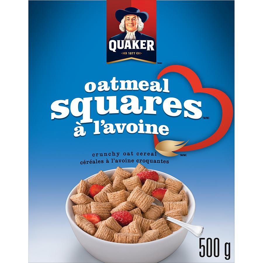 Quaker Oatmeal Squares Crunchy Oat Cereal