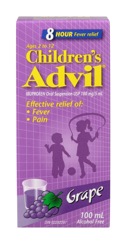 Children's Advil Suspension Grape 100ml