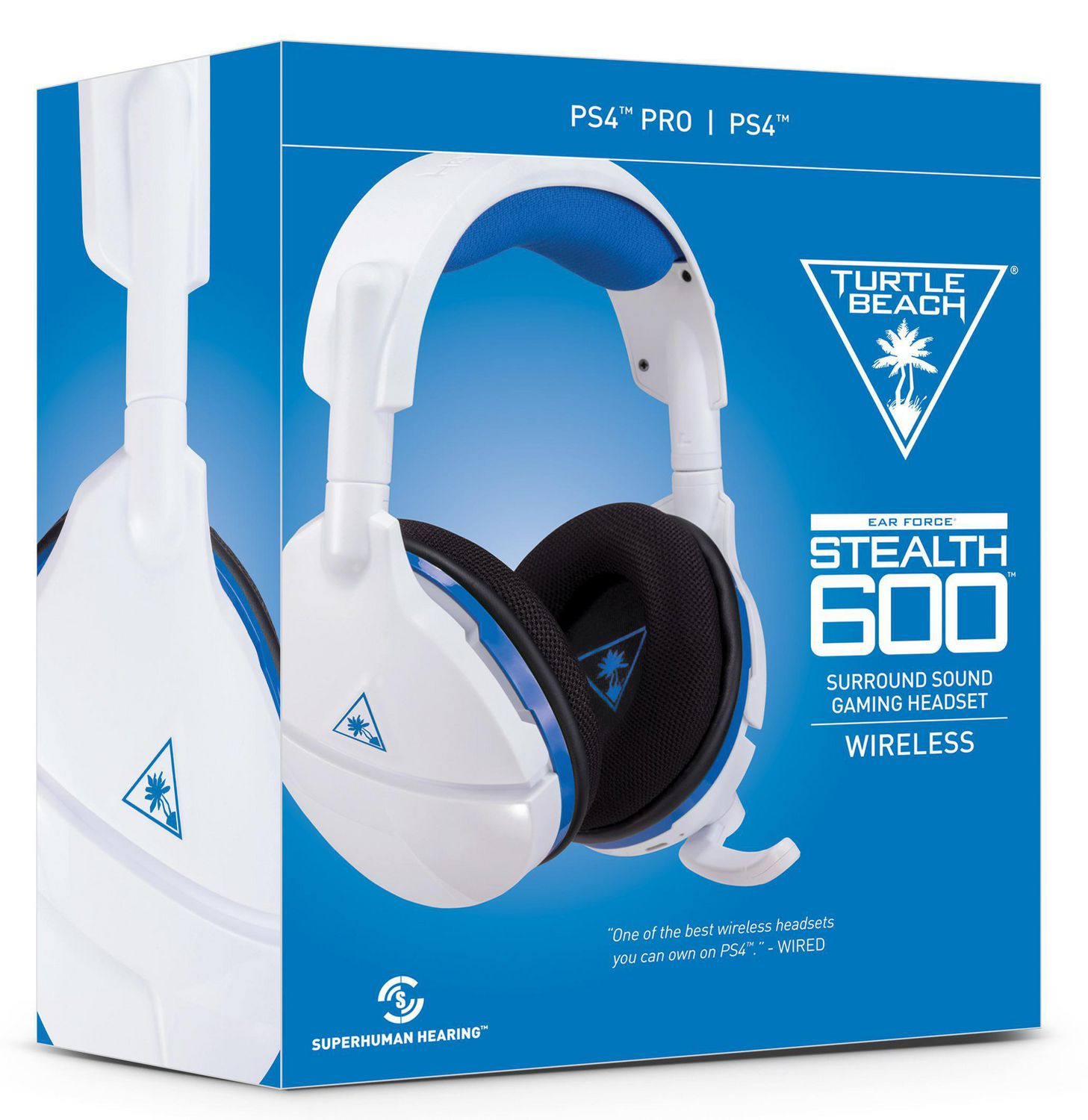 TURTLE BEACH® STEALTH 600 White Wireless Surround Sound Gaming Headset for  PlayStation®4 Pro and PlayStation®4
