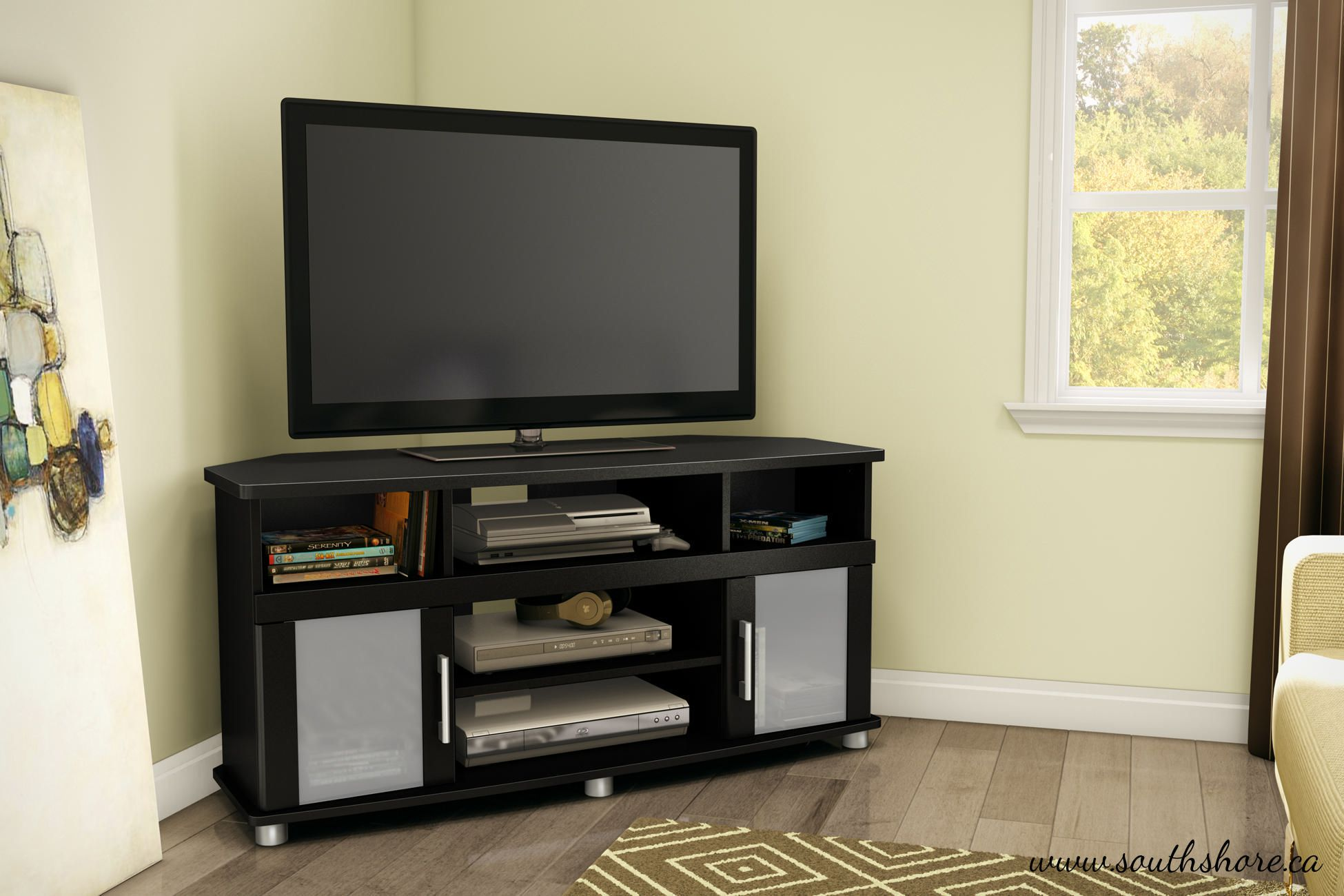 South Shore City Life Corner TV Stand For TVs Up To 50 Inches