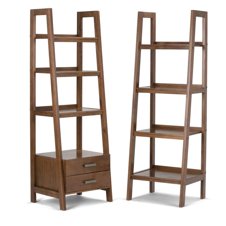 24 Inch X 69 4 Shelf 2 Drawer Ladder