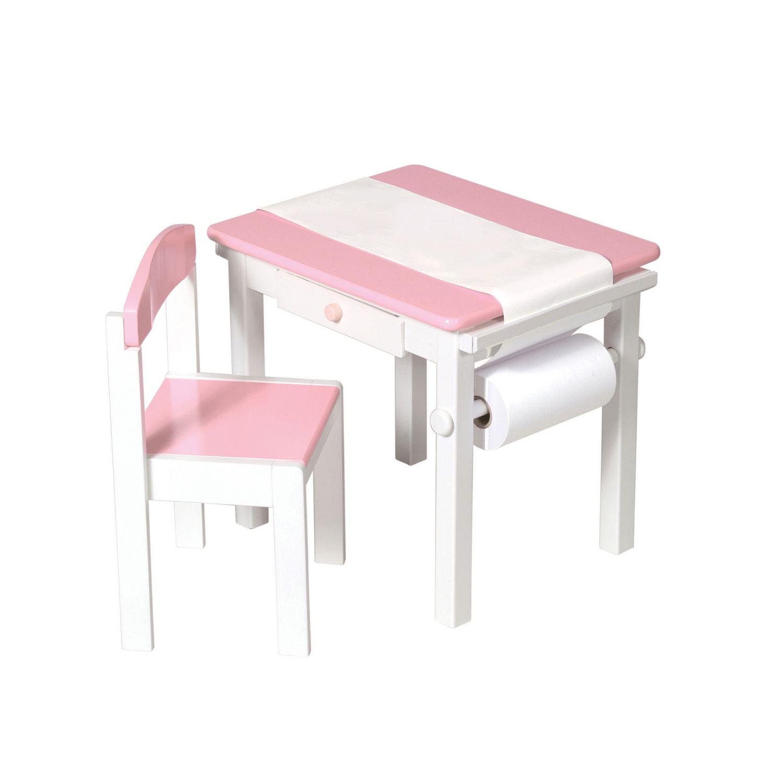 Guidecraft Art Table & Chair Set Pink
