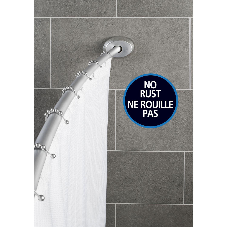 Mainstays No Rust Aluminum Curved Shower Rod